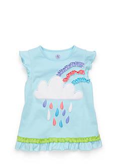 J Khaki™ Short Sleeve Cloud Top Girls 4-6x