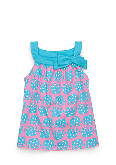 J Khaki™ Sleeveless Elephant Babydoll Top Girls 4-6x