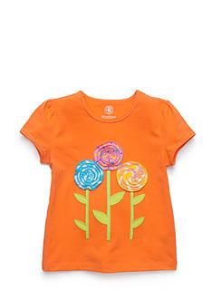 J Khaki™ Decorative Flower Top Girls 4-6x