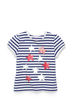 J Khaki™ Printed Stars Stripe Top Girls 4-6x