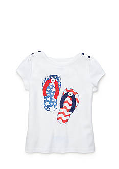 J Khaki™ Americana Flip Flop Top Girls 4-6x