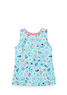 J Khaki™ Floral Print Babydoll Top Girls 4-6x
