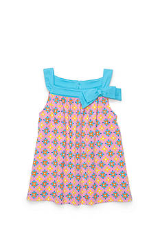 J Khaki™ Geo Print Bow Babydoll Top Girls 4-6x