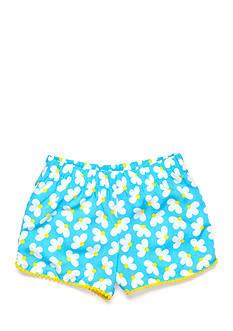 J Khaki™ Daisy Print Pom Pom Soft Short Girls 4-6x