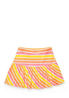 J Khaki™ Stripe Ruffle Scooter Girls 4-6x