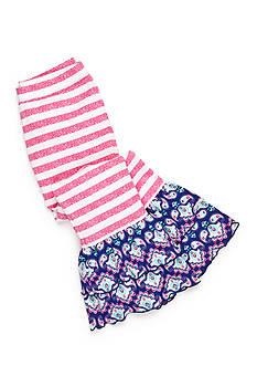 J Khaki™ Stripe Ruffle Leggings Girls 4-6x