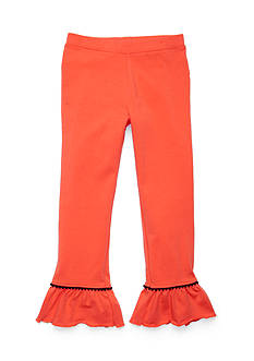J Khaki™ Solid Ruffle Leggings Girls 4-6x
