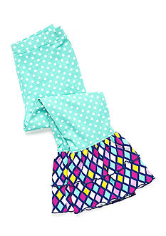 J Khaki™ Polka Dot Ruffle Leggings Girls 4-6x