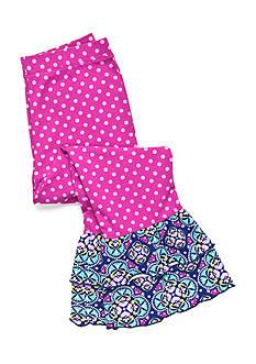 J Khaki™ Polka Dot Ruffle Leggings Girls 4-6x