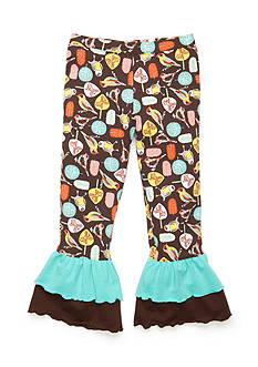 J Khaki™ Bird Print Ruffle Pant Girls 4-6X
