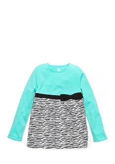 J Khaki™ Long Sleeve Zebra Print Babydoll Top Girls 4-6x