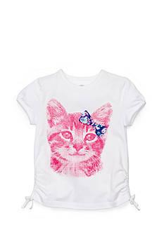 J Khaki™ Glitter Cat Top Girls 4-6x