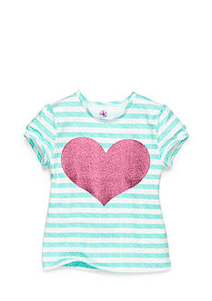 J Khaki™ Stripe Heart Top Girls 4-6x