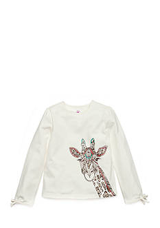 J Khaki™ Long Sleeve Giraffe Top Girls 4-6x