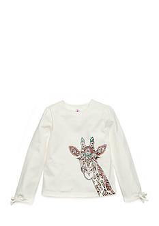 J Khaki™ Long Sleeve Giraffe Top Girls 4-6x