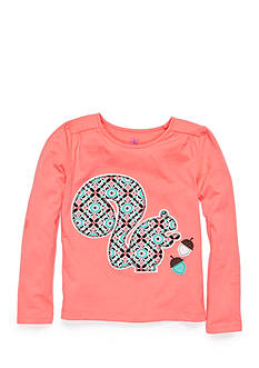 J. Khaki Long Sleeve Squirrel Top Girls 4-6X