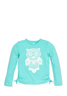 J. Khaki Long Sleeve Crochet Owl Tee Girls 4-6X