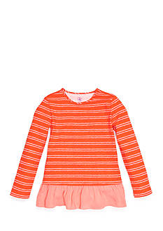J. Khaki Stripe Babydoll Top Girls 4-6X