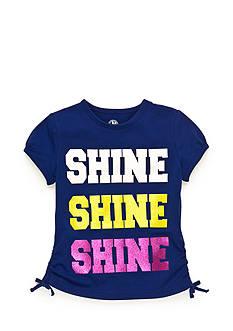 J Khaki™ 'Shine Shine Shine' Glitter Top Girls 4-6x