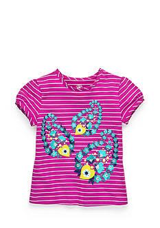 J Khaki™ Stripe Paisley Top Girls 4-6x