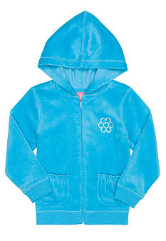 J Khaki Velour Jacket Girls 4-6X