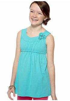 J Khaki Rosette Top Girls 7-16