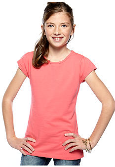 J Khaki™ Flutter Sleeve Basic Tee Girls 7-16