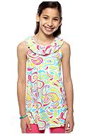 J Khaki™ Fun Flip Swirl Babydoll Top Girls 7-16