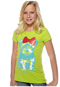 J Khaki Puppy Print Tee Girls 7-16