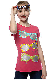 J Khaki Sunglasses Tee Girls 7-16