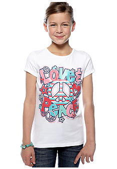 J Khaki Love Peace Tee Girls 7-16