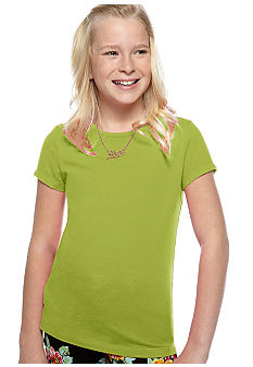J Khaki Short Sleeve Crew Tee Girls 7-16