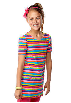 J Khaki Stripe Babydoll Top Girls 7-16