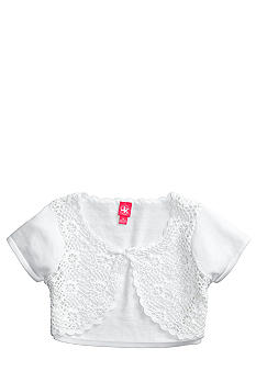 J Khaki Crochet Front Sweater Girls 7-16