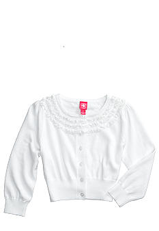 J Khaki Ruffle Trim Sweater Girls 7-16
