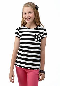 J Khaki™ Stripe & Dot Top Girls 7-16