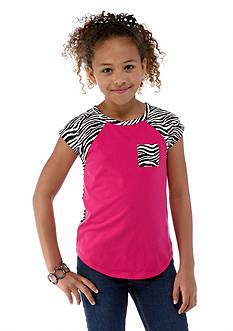 J Khaki™ Zebra Pocket Tee Girls 7-16