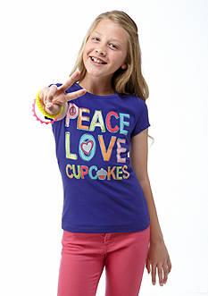 J Khaki™ Peace Love Cupcakes Screen Tee Girls 7-16