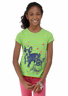 J Khaki™ French Dogs Stripe Tee Girls 7-16