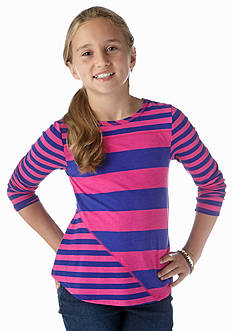 J Khaki™ Bias-Cut Stripe Top Girls 7-16