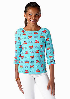 J Khaki™ Long Sleeve Animal Tees Girls 7-16