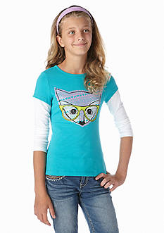 J Khaki™ Foxy Long Sleeve 2fer Girls 7-16