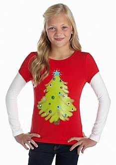 J Khaki™ Christmas Tree 2fer Tee Girls 7-16