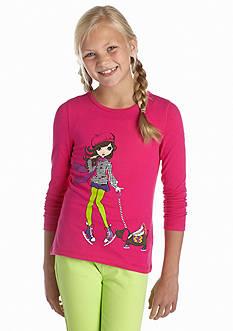 J Khaki™ Long Sleeve Ice Skater Tee Girls 7-16