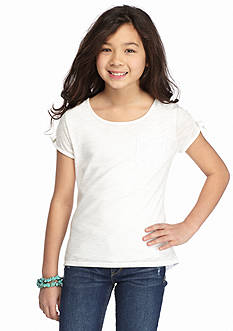 J Khaki™ Lace Back Solid Tee Girls 7-16