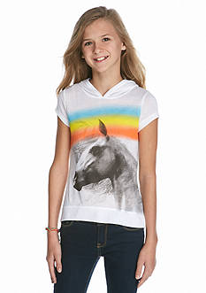 J Khaki™ Hooded Horse High Low Top Girls 7-16