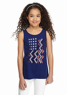 J Khaki™ American Flag Tank Top Girls 7-16