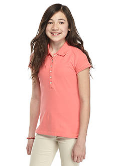 J Khaki™ Solid Polo Top Girls 7-16