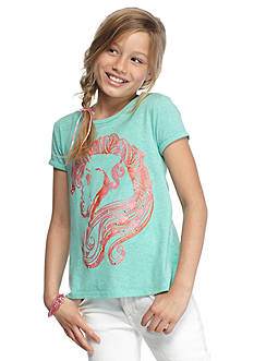 J Khaki™ Horse Hair Split Back Top Girls 7-16
