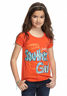 J Khaki™ 'Just A Southern Girl' Split Back Top Girls 7-16